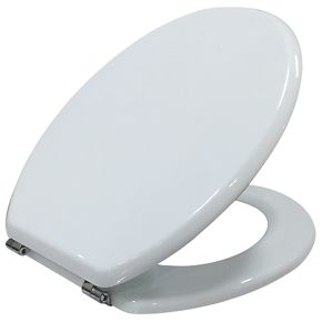 toilet seat. Cooke and Lewis Standard Closing Toilet Seat Moulded Wood White  Seats Screwfix com