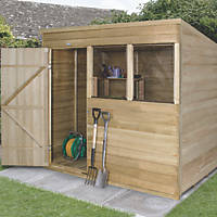 Forest 7' x 5' (Nominal) Pent Overlap Timber Shed