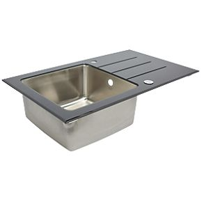 Glass And Stainless Steel Sink At Screwfix