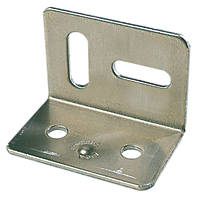 Stretcher Plates Zinc-Plated 38 x 28 x 25mm 10 Pack