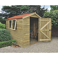 Forest 6' x 8' (Nominal) Apex Tongue & Groove Timber Shed with Assembly
