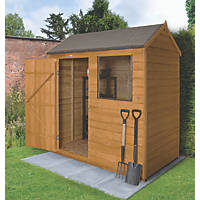 Forest 6' x 4' (Nominal) Apex Overlap Timber Shed with Base