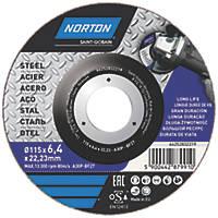 "Norton Grinding Disc 4½"" (115mm) x 6 x 22.23mm"