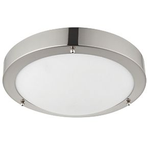 Saxby Portico LED Bathroom Ceiling Light Satin Nickel ...