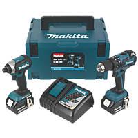 Makita DLX2173TJ 18V 5.0Ah Li-Ion LXT Brushless Cordless Combi Drill & Impact Driver Twin Pack