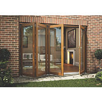 Jeld-Wen  Slide & Fold Patio Door Set Oak Veneer 2994 x 2094mm
