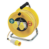 Masterplug LVCT5016/2-XD 16A 2-Gang 50m Cable Reel 110V