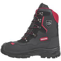 Oregon Yukon Leather Chainsaw Safety Boots Black Size 9.5