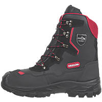 Oregon Yukon Leather Chainsaw Safety Boots Black Size 12