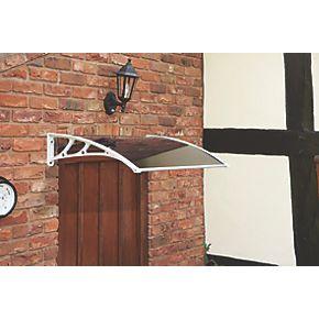 greenhurst easy fit door canopy white 1000 x 600 x 230mm. Black Bedroom Furniture Sets. Home Design Ideas