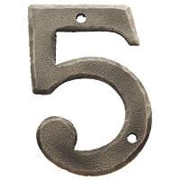 Carlisle Brass Ludlow Door Numeral 5 Pewter Effect 78mm
