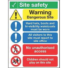 Quot Site Safety Quot Notice Sign 400 X 300mm Site Safety Signs