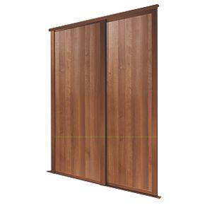 Spacepro 2 Door Panel Sliding Wardrobe Doors Walnut 1803 X