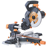 Evolution R210SMS 210mm Single-Bevel Sliding  Compound Mitre Saw 230V
