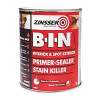 Zinsser B-I-N Shellac-Based Primer Sealer White 1Ltr
