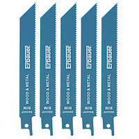 Erbauer S922HF Demolition Reciprocating Saw Blades 150mm 5 Pack