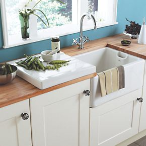 ceramic kitchen sink with drainer astracast belfast ceramic drainer sinks screwfix 8090