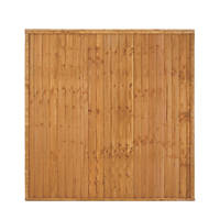 Larchlap Heavy Duty Closeboard Fence Panels 1.8 x 1.8m 9 Pack