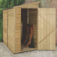 Forest 3' x 6' (Nominal) Pent Overlap Timber Shed with Assembly