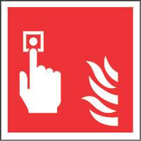 Fire Alarm Symbol Sign 100 x 100mm