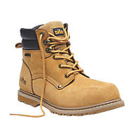Site Savannah Waterproof Safety Boots Tan Size 8