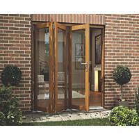 Jeld-Wen  Slide & Fold Patio Door Set Oak Veneer 1794 x 2094mm