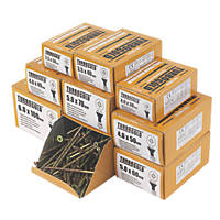 TurboGold PZ Double Self-Countersunk Woodscrews Trade Pack 1400 Pcs