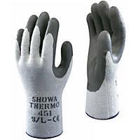 Showa 451 Thermal Grip Gloves Blue Medium