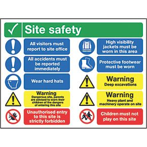 Quot Site Safety Quot Sign 600 X 800mm Site Safety Signs