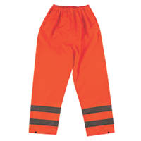 "Hi-Vis Trousers Elasticated Waist Orange Large 26-46"" W 30"" L"