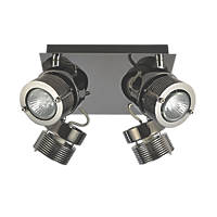 Inlight  4-Light Square Spotlight Black Chrome 240V