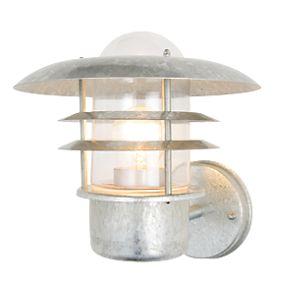 zinc vulcan stainless steel tiered wall lantern 60w. Black Bedroom Furniture Sets. Home Design Ideas