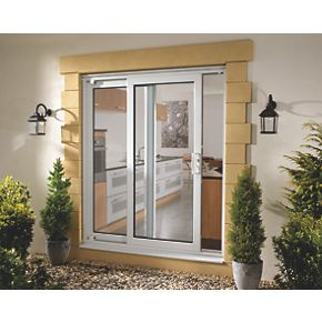 Euramax upvc 6ft patio door non handed 1790 x 2090mm for Non sliding patio doors