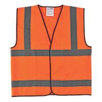 """Hi-Vis Waistcoat Orange Medium 46"""" Chest"""