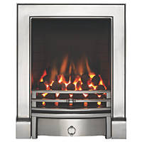 Focal Point Soho Chrome Rotary Control Inset Gas Full Depth Fire