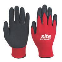 Site Superlight Builders Gloves Red / Black Large