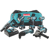 Makita DLX6075M 18V 4.0Ah Li-Ion LXT Cordless 6 Piece Kit