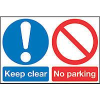"""Keep Clear No Parking"" Sign 400 x 600mm"