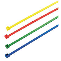 Multicoloured Cable Ties 200 x 4.5mm Pack of 200