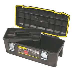 stanley fatmax 28 waterproof tool box plastic toolboxes. Black Bedroom Furniture Sets. Home Design Ideas
