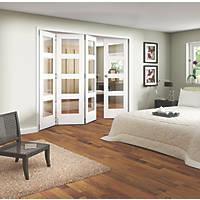 Jeld-Wen Shaker 4-Panel Interior Room Divider Primed 2052 x 2550mm