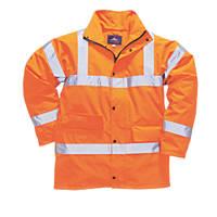 """Portwest  Hi-Vis Traffic Jacket Orange X Large 46-48"""" Chest"""