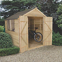 Forest 7' x 7' (Nominal) Apex Overlap Timber Shed with Base & Assembly