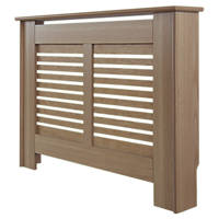 Contemporary Suffolk Radiator Cabinet Small Natural Oak Veneer 1020 x 180 x 800mm