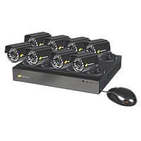 Nightwatcher NW-8AHD-1TB-C720-8B 8-Channel CCTV DVR Kit & 8 Cameras