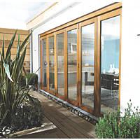 Jeld-Wen  Slide & Fold Patio Door Set Oak Veneer 4794 x 2094mm