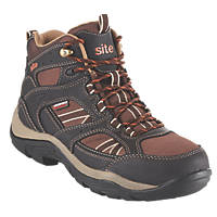 Site Ironstone Waterproof Safety Boots Brown Size 10