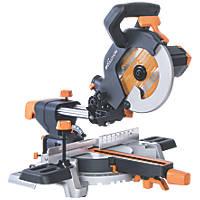 Evolution R210SMS 210mm Single-Bevel Sliding  Compound Mitre Saw 110V