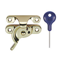 Carlisle Brass Locking Sash Fastener Fitch Pattern Polished Brass 68mm x 25mm