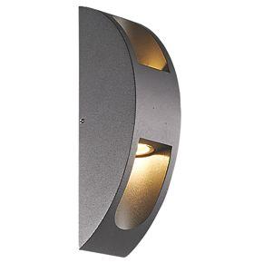 smartwares verona dark grey up down led wall light 600lm. Black Bedroom Furniture Sets. Home Design Ideas